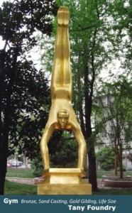 Gold Leafing, Gold Gilt, Bronze sculpture Art Foundry China