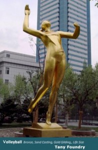 Gold Leafing, Gold Gilt, Bronze sculpture Foundry China