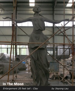 monumental sculpture foundry sand casting China