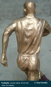 Lost wax bronze casting art foundry China