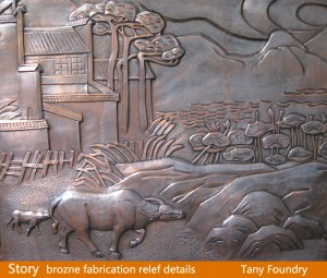 Bronze relief | sculpture fabricator China